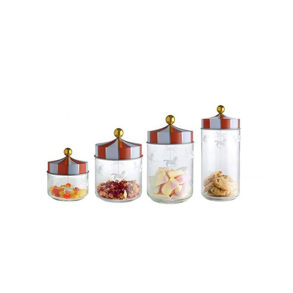 Alessi Circus glazen voorraadpot 0,5L