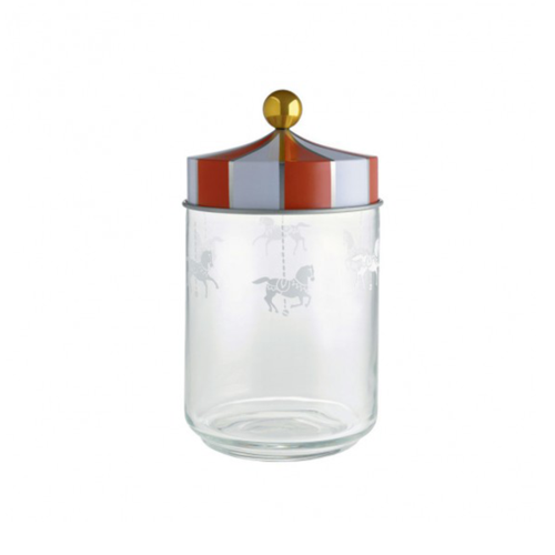 Alessi Circus glazen voorraadpot 1L