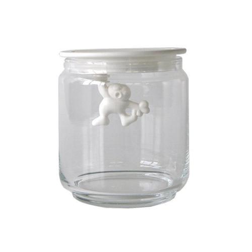 Alessi Gianni glazen voorraadpot 12 cm Wit
