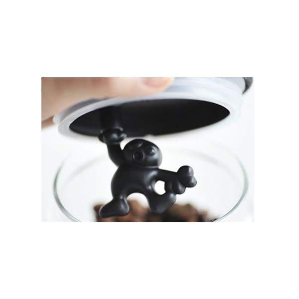 Alessi Gianni glazen voorraadpot 12 cm Zwart
