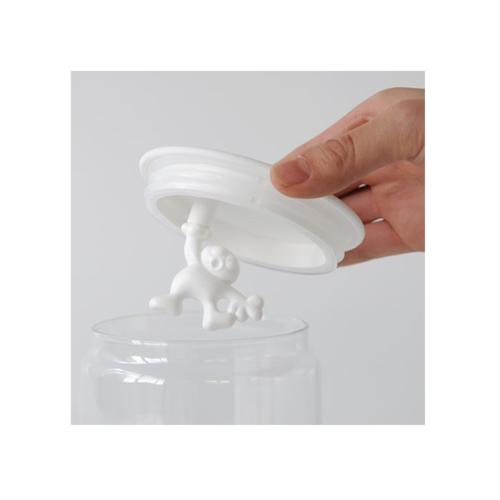 Alessi Gianni glazen voorraadpot 20,5 cm Wit