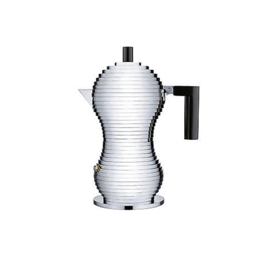 Alessi Pulcina Percolator 1 kops Aluminium Zwart