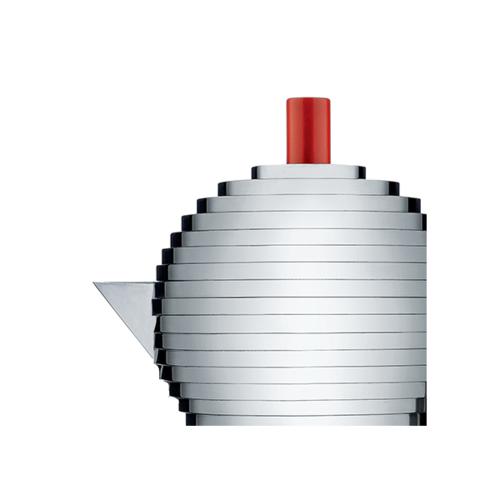 Alessi Pulcina Percolator 3 kops Aluminium Rood Inductie