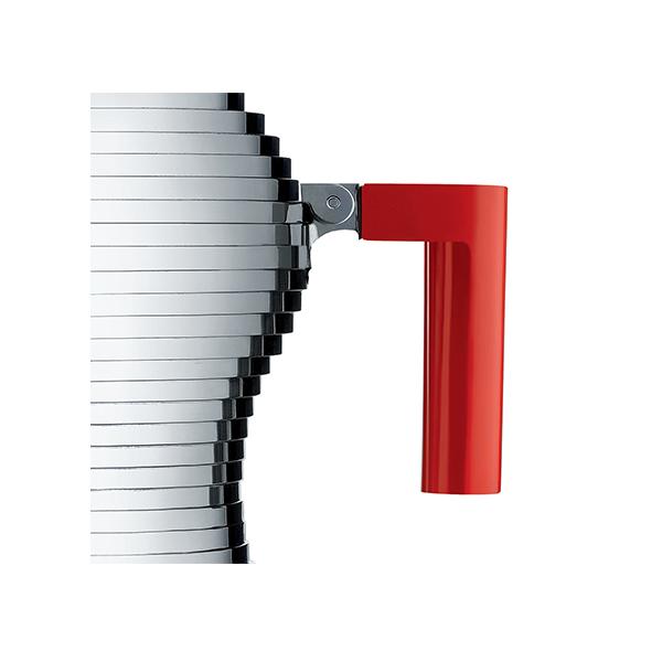 Alessi Pulcina Percolator 6 kops Aluminium Rood Inductie