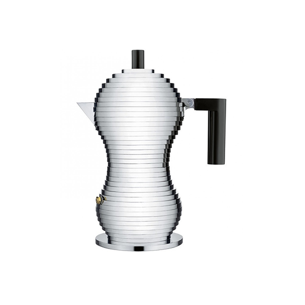 Alessi Pulcina Percolator 6 kops Aluminium Zwart