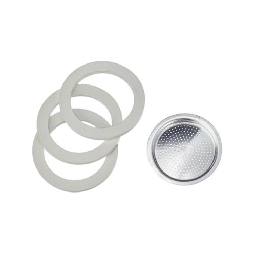 Bialetti Aluminium Filterplaatje en Afsluitringen (6 kops)