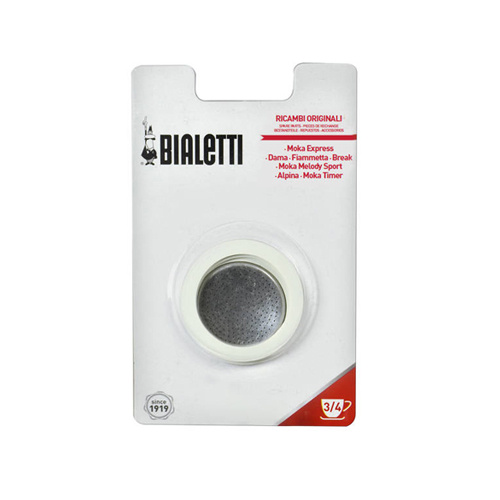 Bialetti Aluminium Filterplaatje en Afsluitringen (3 & 4 Kops)