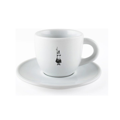 Bialetti Cappuccino kop en  schotel Porselein