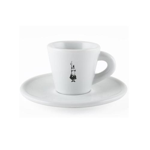 Bialetti Espresso kop en  schotel Porselein