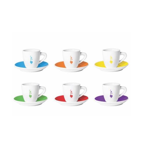 Bialetti espresso kopjes Istiuzionali 6 stuks Gekleurd