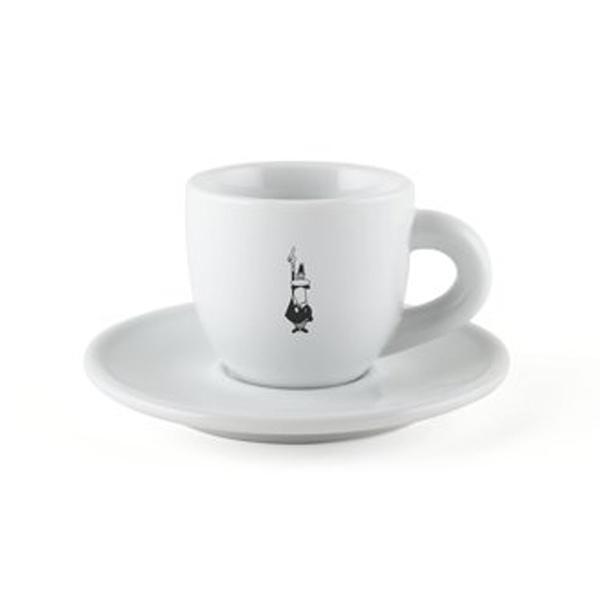 Bialetti Koffie kop en schotel Porselein