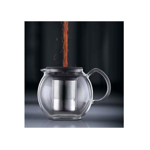 Bodum Assam Theepot 1,5L met RVS filter en Glazen Handvat