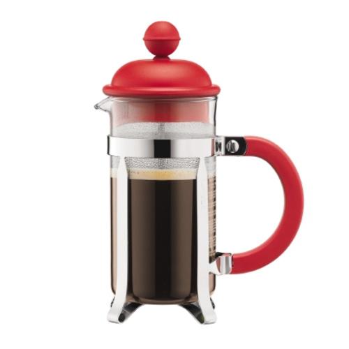 Bodum Cafetiere 8 kops, 1L Rood