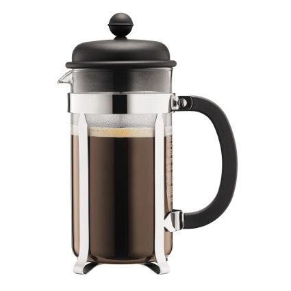 Bodum Cafetiere 8 kops, 1L Zwart