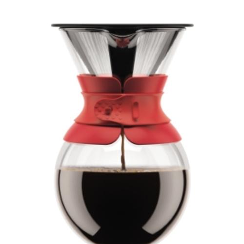 Bodum Cafetiere Pour Over 1,5L Rood