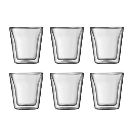 Bodum Canteen Dubbelwandige Glazen 0,1L 6 stuks