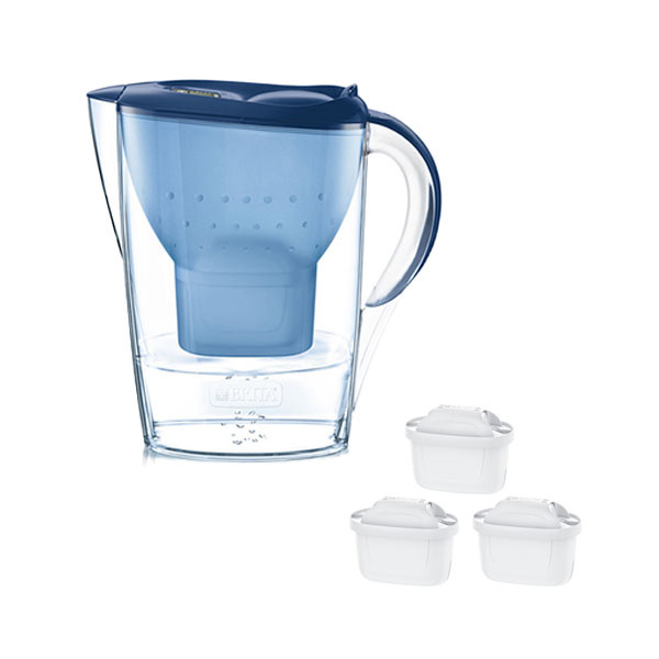 Brita Waterfilterkan Marella Cool Blauw Promopack