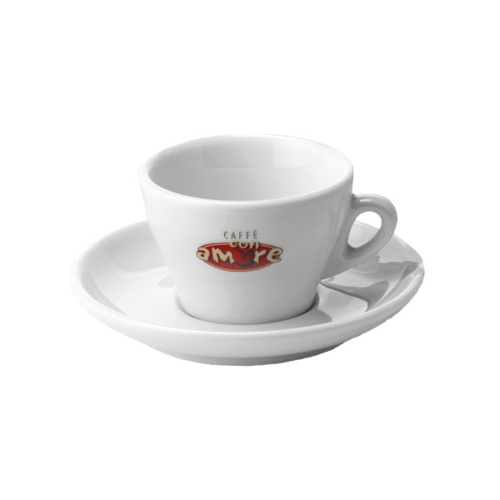 Caffe Con Amore Cappuccino Kop en Schotel