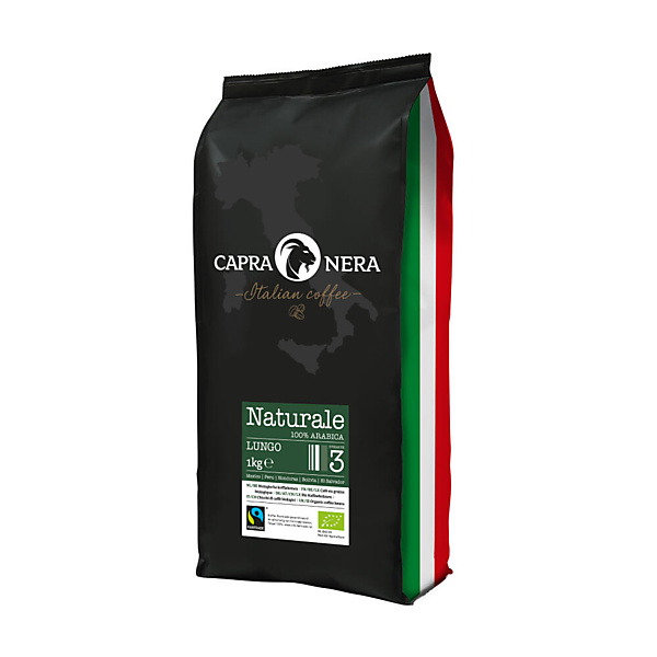 Capra Nera Koffiebonen Naturale Lungo Fairtrade 1kg