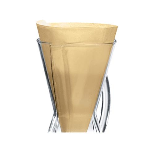 Chemex Koffiefilters Ongevouwen Halve Maan Natural 100 stuks
