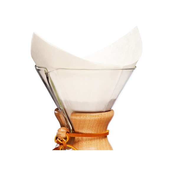 Chemex Koffiefilters Voorgevouwen Vierkant 100 stuks