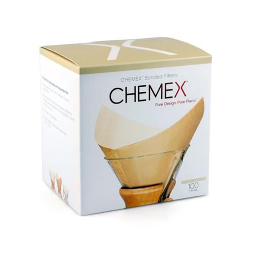 Chemex Koffiefilters Voorgevouwen Vierkant Natural 100 stuks
