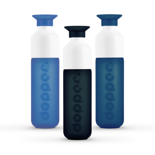 Dopper Drinkfles Voordeelpakket Deep Blue Sea Collectie 3 stuks