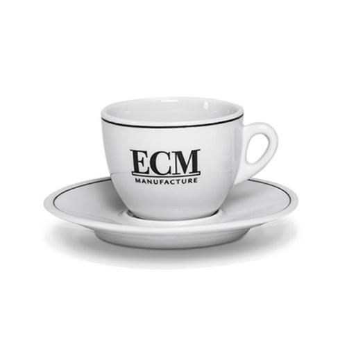 ECM Classic Cappuccino Kop en Schotel Porselein