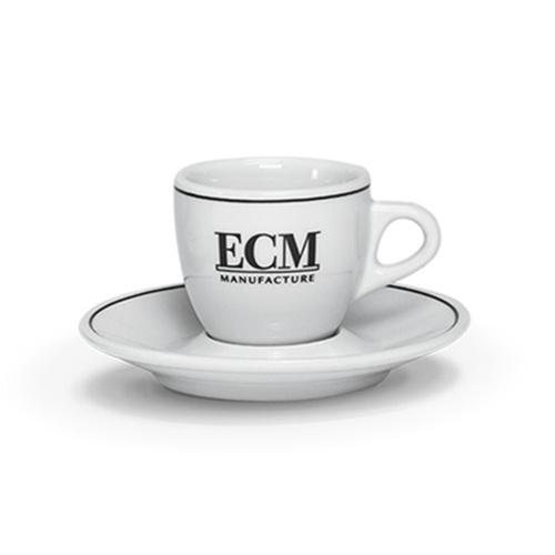 ECM Classic Espresso Kop en Schotel Porselein