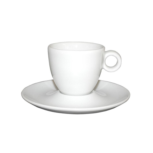 Espresso Kop en Schotel Porselein Wit