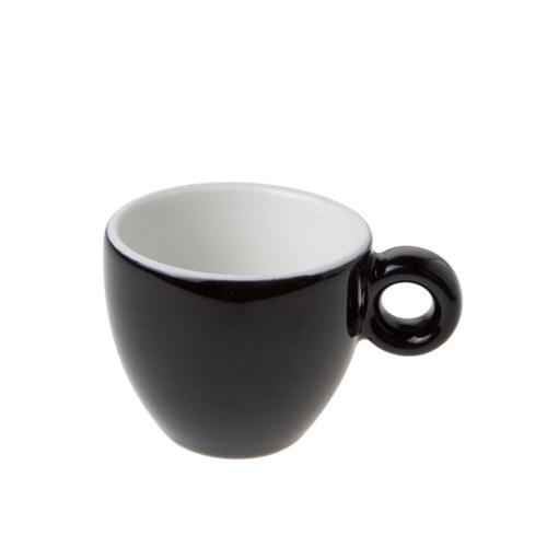 Espresso Kop en Schotel Porselein Zwart