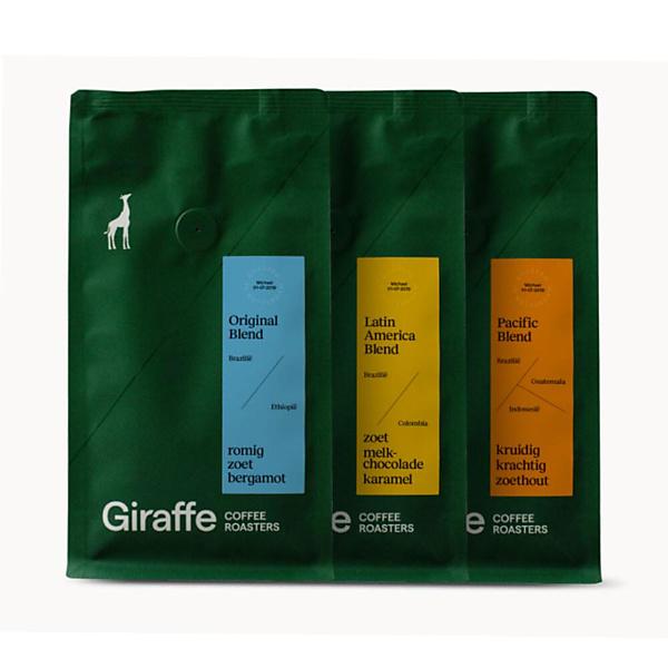 Giraffe Coffee Koffiebonen Proefpakket 1,05kg