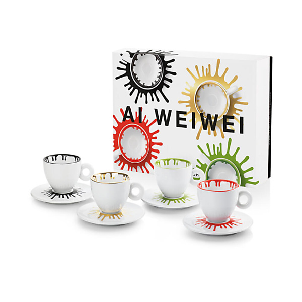 illy Art Collection Ai Weiwei Cappuccino Kop en Schotel 4 stuks