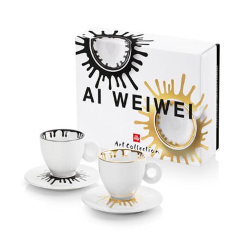 illy Art Collection Ai Weiwei Cappuccino Kop en Schotel 2 stuks