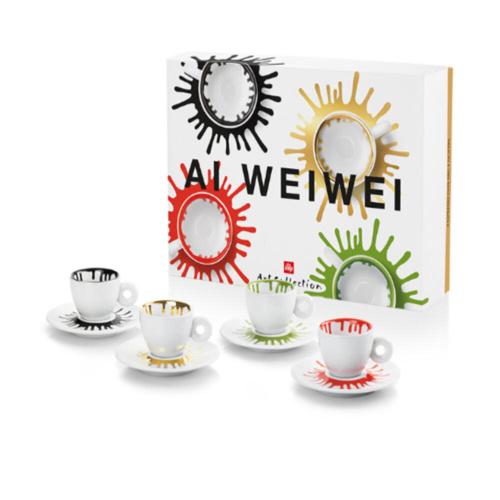 illy Art Collection Ai Weiwei Espresso Kop en Schotel 4 stuks