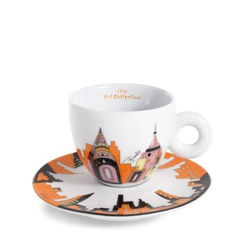 illy Emilio Pucci 2 cappuccino kop en schotel