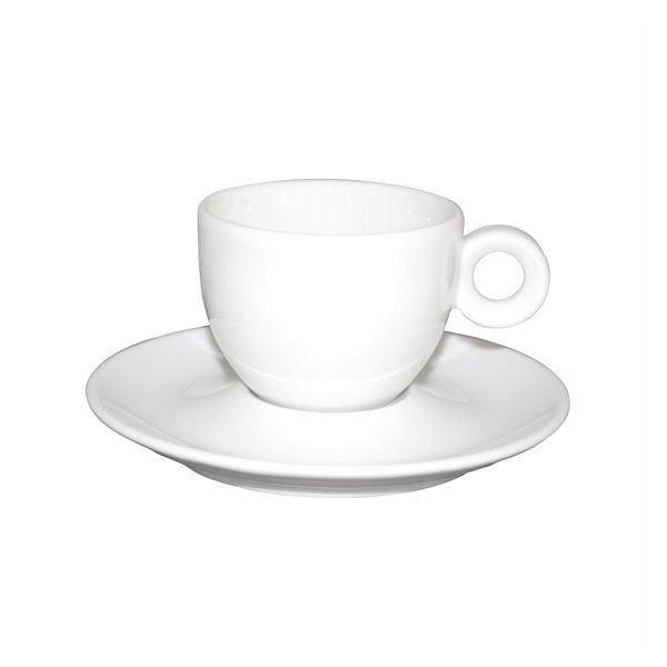 Koffie Kop en Schotel Porselein Wit