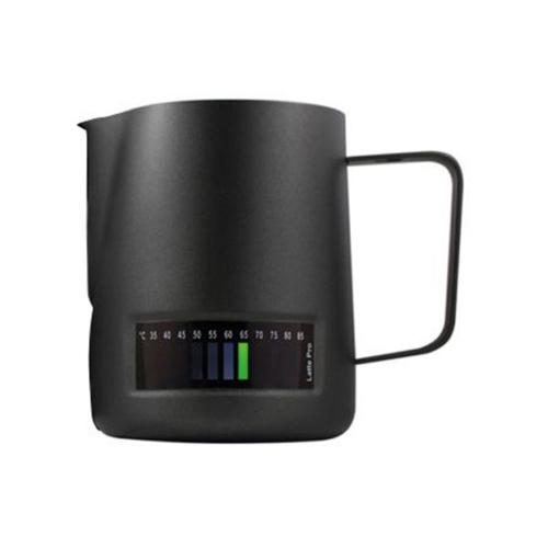 Latte Pro Melkkan Met Thermometer 0,48L Zwart