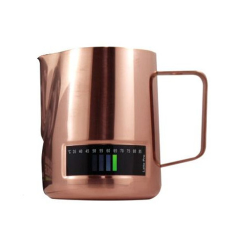 Latte Pro Melkkan Met Thermometer 0,6L Koper