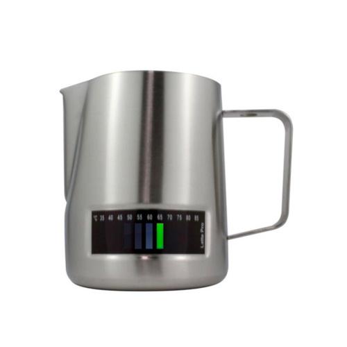 Latte Pro Melkkan Met Thermometer 0,6L RVS