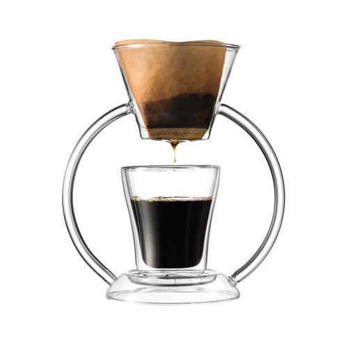 Leonardo Duo Koffiemaker met Dubbelwandig Glas
