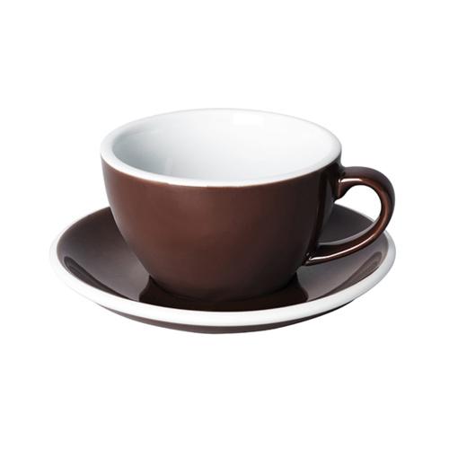 Loveramics Egg Cappuccino kop en schotel Bruin 250 ml