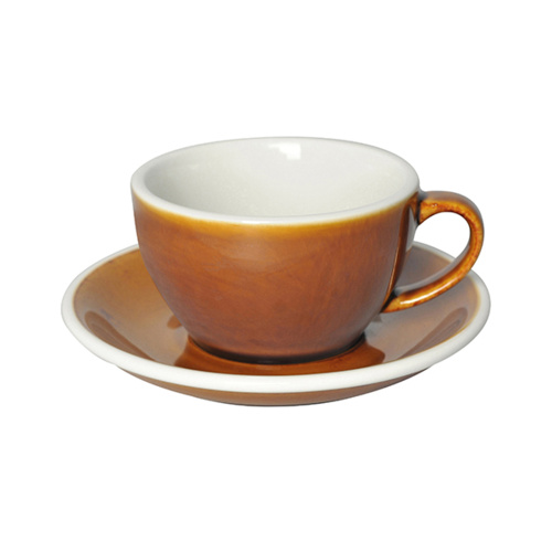 Loveramics Egg Cappuccino kop en schotel Caramel 250 ml
