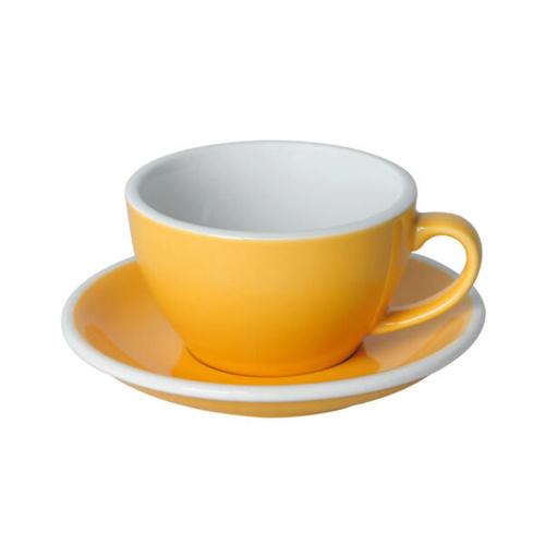Loveramics Egg Cappuccino kop en schotel Geel 250 ml