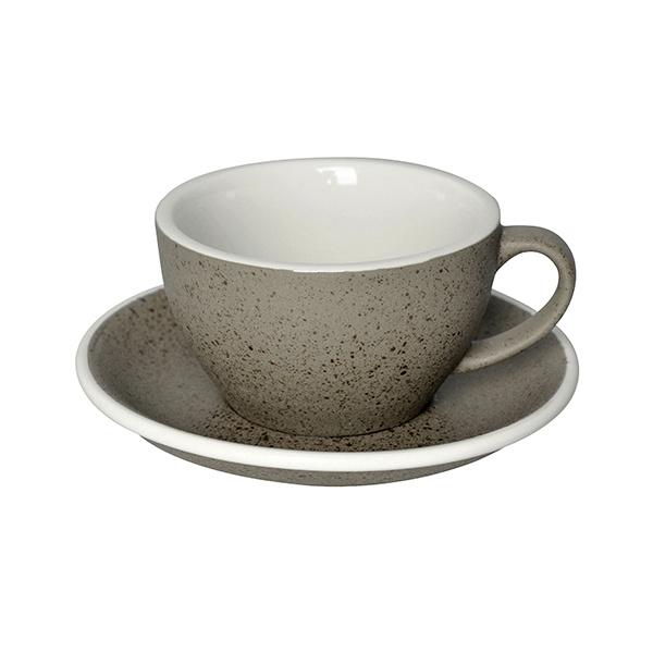 Loveramics Egg Cappuccino kop en schotel Granite 250 ml