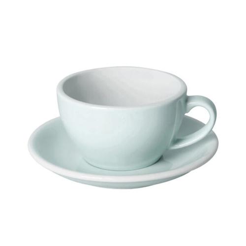 Loveramics Egg Cappuccino kop en schotel River Blue 250 ml