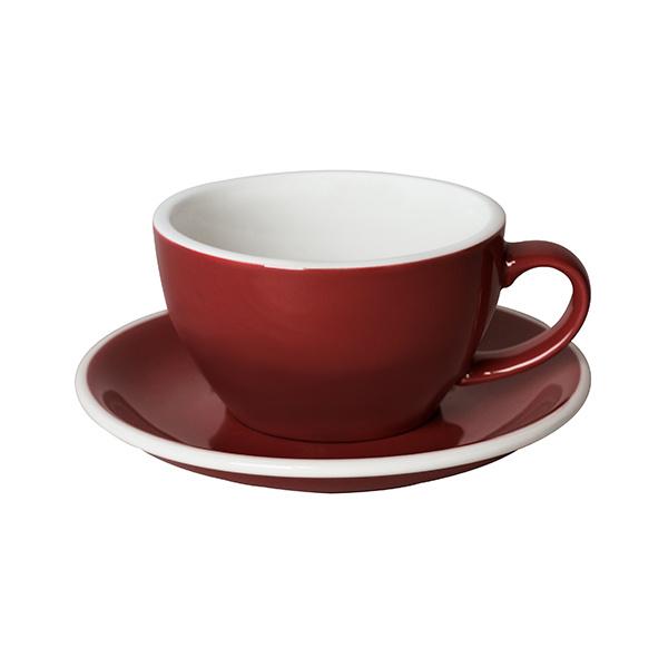 Loveramics Egg Cappuccino kop en schotel Rood 250 ml
