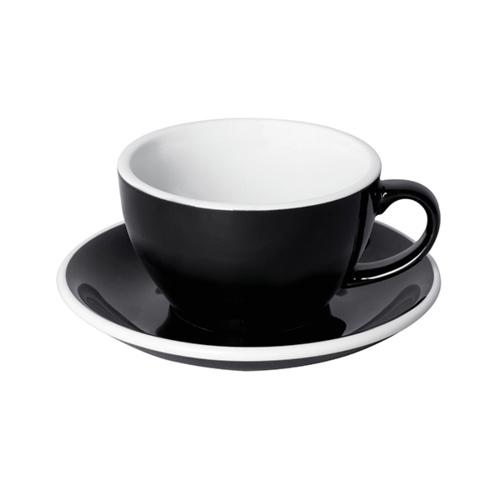 Loveramics Egg Cappuccino kop en schotel Zwart 250 ml