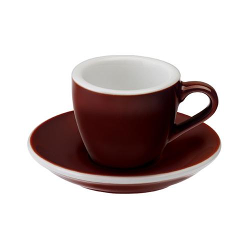 Loveramics Egg Espresso kop en schotel Bruin 80 ml
