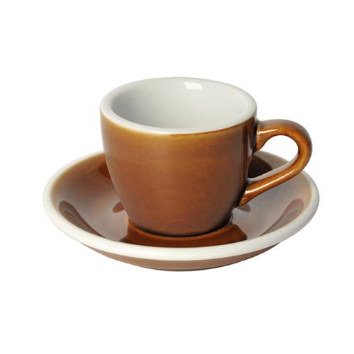 Loveramics Egg Espresso kop en schotel Caramel 80 ml